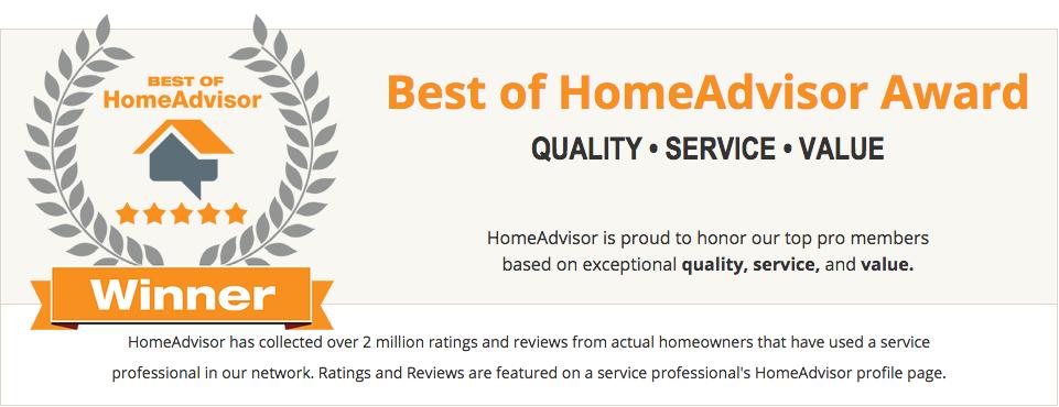 Winner Of The 2016 Best Of Homeadvisor Award