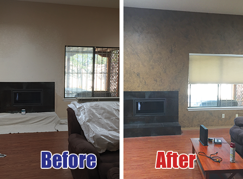 Before and After photo albuquerque precision painting and faux finishing best